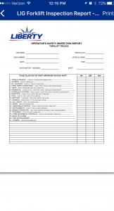 Equipment Inspection Report
