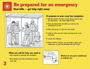 Heat Safety Tips: be prepared for an emergency
