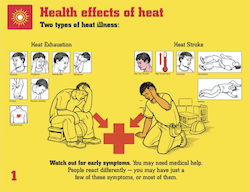 Watch for these signs of heat illness