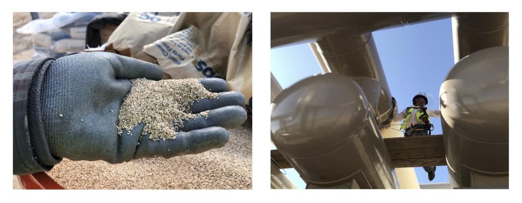 corn cob grit used for blasting sensitive equipment
