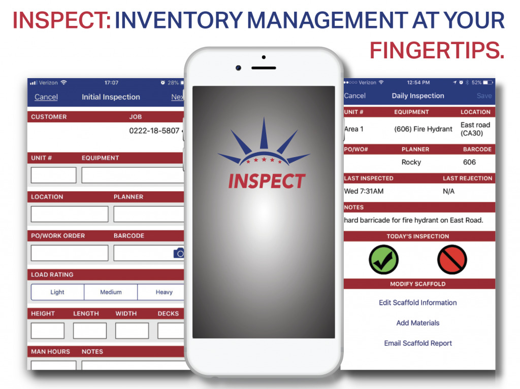 Liberty's Scaffold Inventory Management is second to none