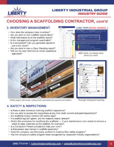 How to Choose a Scaffold Company: Helpful Guide, cont'd