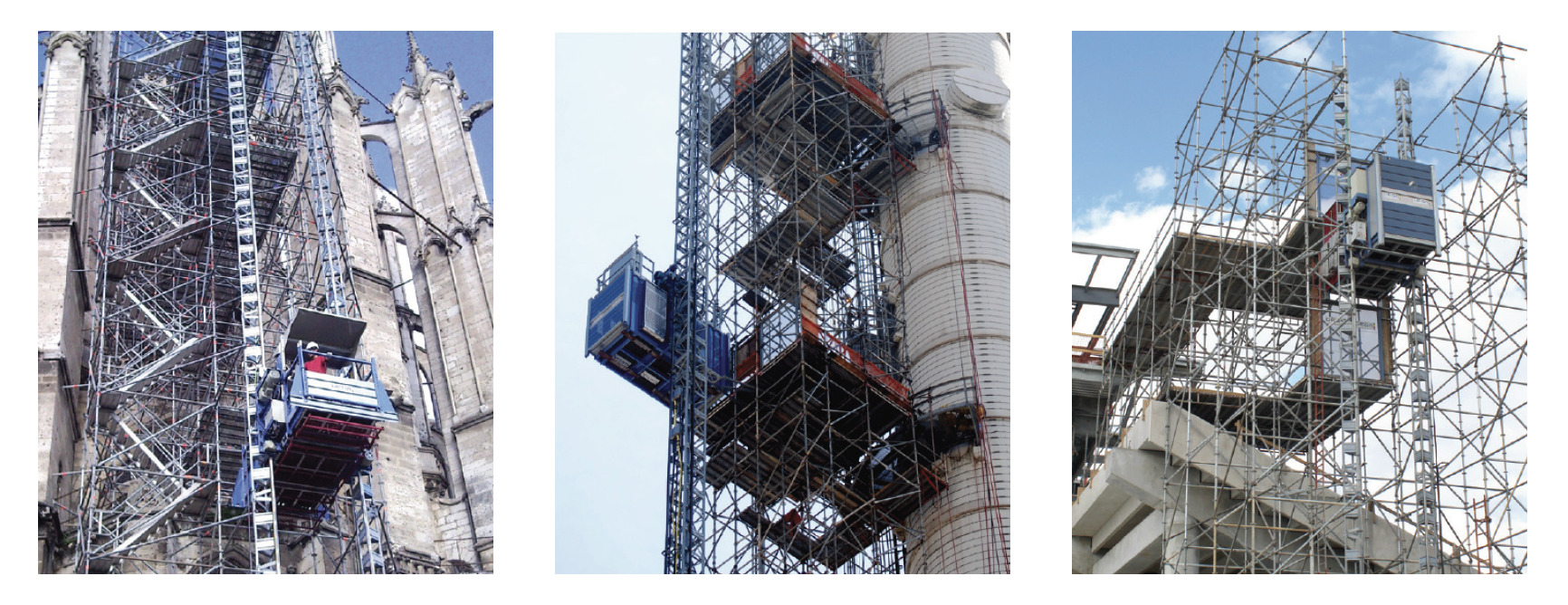 GEDA elevators and hoists, commercial scaffold company